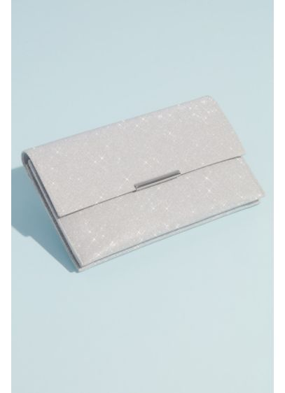 Fold Over Glittery Clutch with Removable Chain - Don't forget your sparkle! Add something dazzling to
