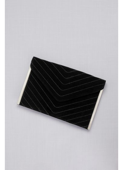 Quilted Velvet Envelope Clutch - Crafted of soft, quilted velvet, this textural velvet