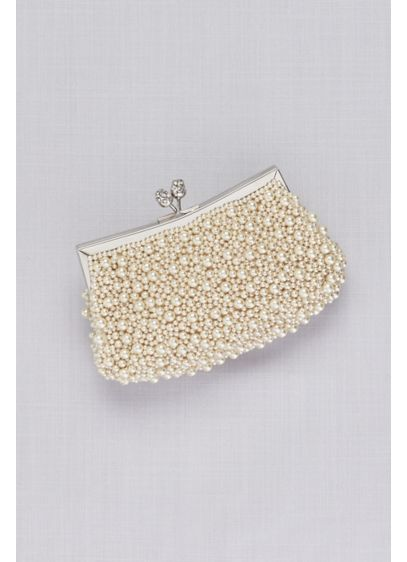 Pearl Melange Clutch - Pearls both large and small adorn this classically