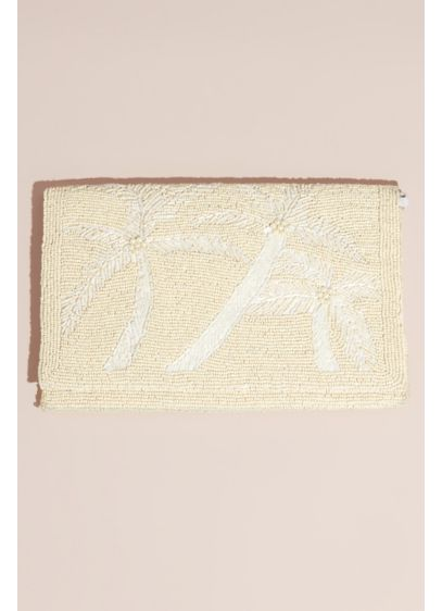Beaded Palm Tree Envelope Clutch - Perfect for a beach wedding, this allover beaded