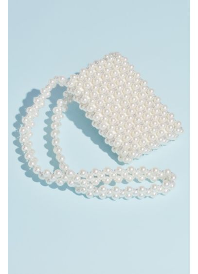 Pearl Bead Crossbody Bag with Removable Pouch - Add a little luster to your look with