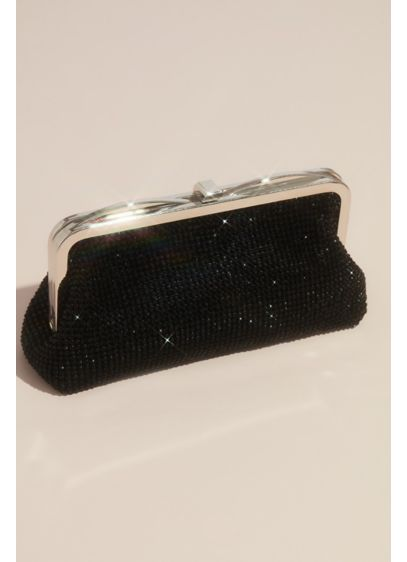 Crystal Embellished Mesh Frame Clutch - Wedding Accessories