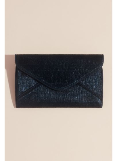 Pleated Metallic Coated Envelope Clutch - Wedding Accessories