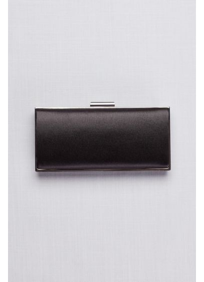 Slim Satin Minaudiere - This beautifully minimalistic clutch is crafted of luminous