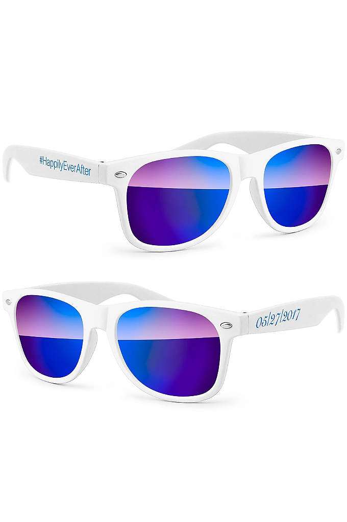 Personalized Retro Mirrored Party Sunglasses - Personalized Retro Mirrored Party Sunglasses are the perfect
