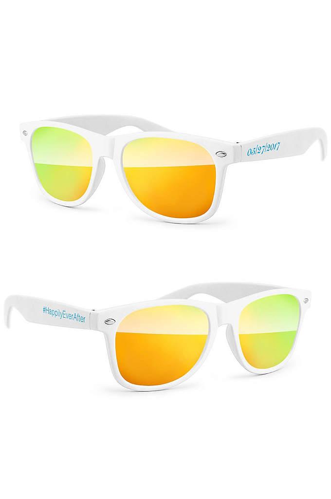 Personalized Retro Mirrored Party Sunglasses - Personalized Retro Mirrored Party Sunglasses are the perfect