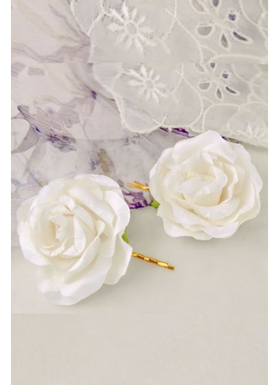 Handmade Paper Flower Hair Pin Set - Wedding Accessories