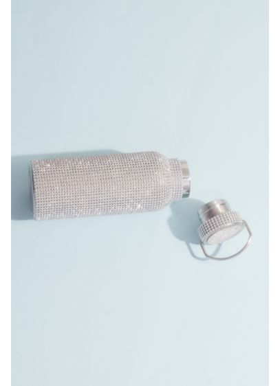 Crystal-Encrusted Stainless Steel Water Bottle - Wedding Gifts & Decorations
