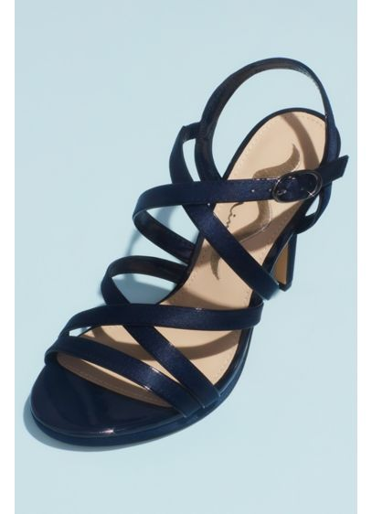 Crossing Straps Heeled Platform Sandals - A strappy heeled sandal is an essential part