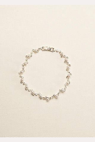 Pulsera de Perlas y Cristales en zigzag