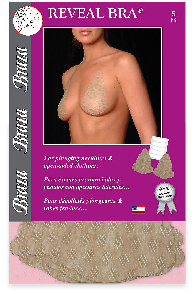 Braza Reveal Disposable Adhesive Bra - This disposable bra holds your shape and offers