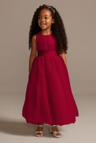 Satin Formal Little Girls Dresses