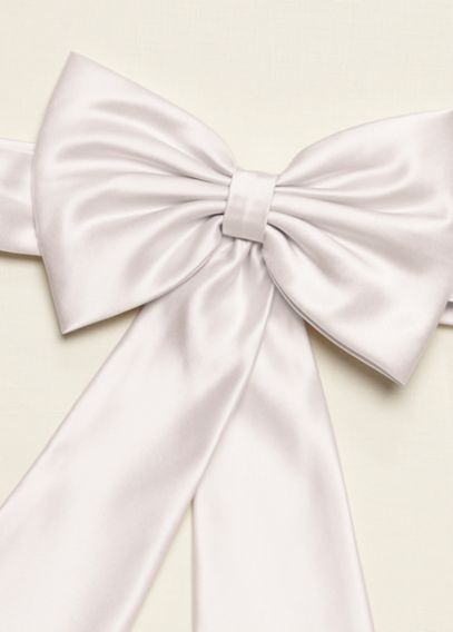 satin flower girl sash with back bow davids bridal