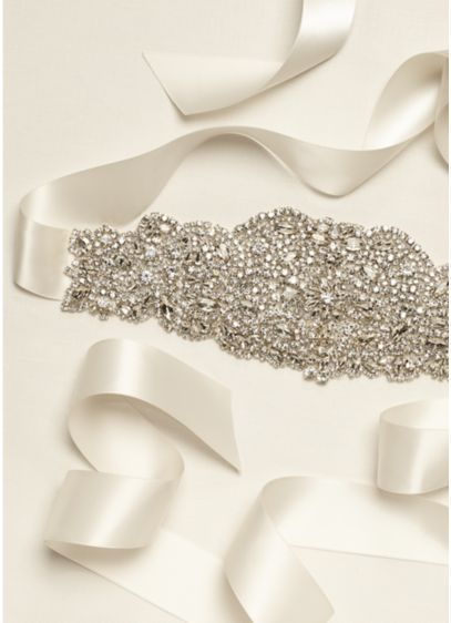 Heavily Encrusted Sash - Wedding Accessories