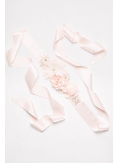 Floral Mixed Media Sash - This silky sash will be the perfect splash
