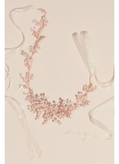 Handwired Crystal and Pearl Floral Station Sash - Taking inspiration from nature, this sash uses pearls