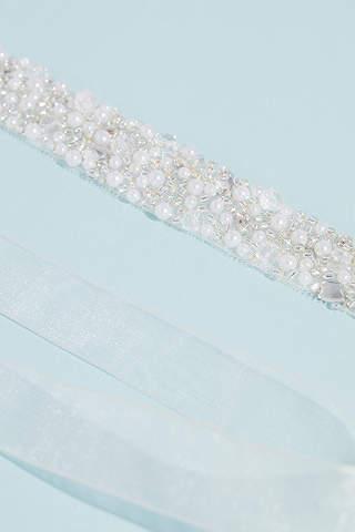 Cinturón con Perlas y Cristales