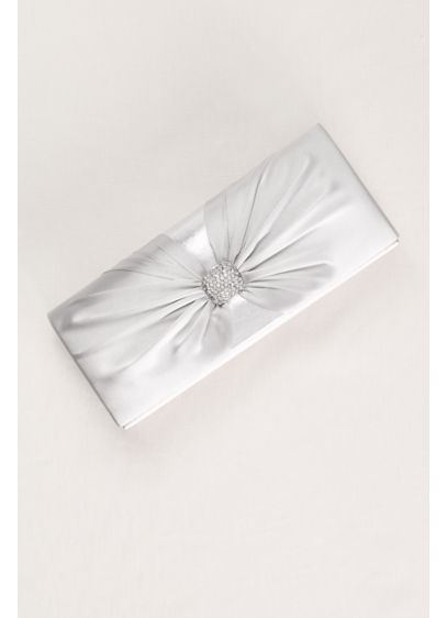 David's Bridal Grey (Pleated Pave Knot Clutch)