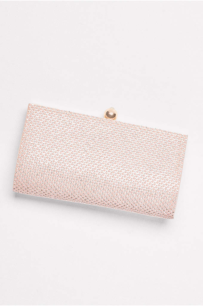 Crystal Clutch with Satin Back - Reach for this glimmering crystal clutch on your