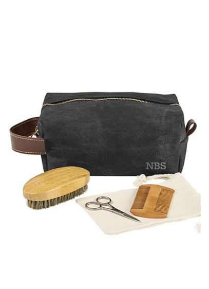 Personalized Dopp Kit with Beard Grooming Set - Wedding Gifts & Decorations