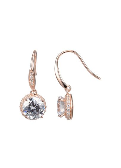 18K Gold Plated Cubic Zirconia Clarion Drops - Wedding Accessories