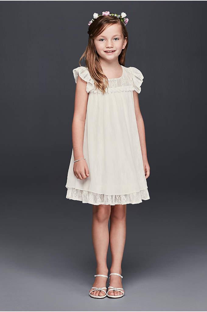 Chiffon and Lace Boho Flower Girl Dress - This boho flower girl dress has a decidedly