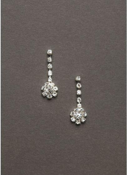 Crystal Drop Earrings - Wedding Accessories