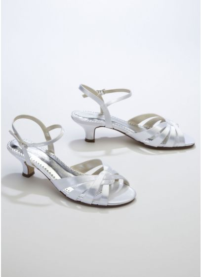Michaelangelo White (Dyeable Sandal with Swirl Design and Quarter Strap)