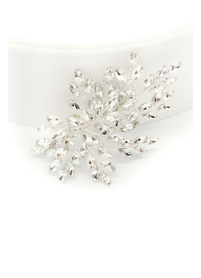 Marquise-Cut Crystal Spray Hair Clip - Marquise-cut crystal buds bloom from delicate twisted branches
