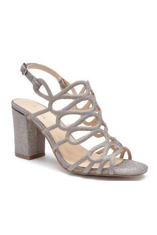 Strappy Glitter Block Heel Sandals