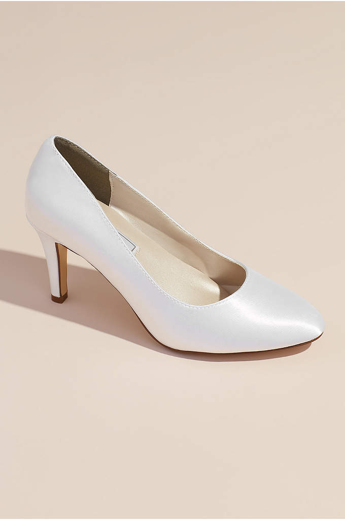 Dyeable Satin Almond Toe Pumps