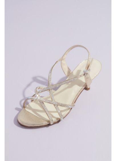 Touch Ups Grey (Sansa Metallic Kitten Heel Sandals with Crystals)