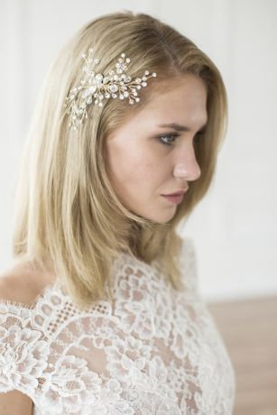 Crystal Berry Spray Hand-Wired Hair Comb