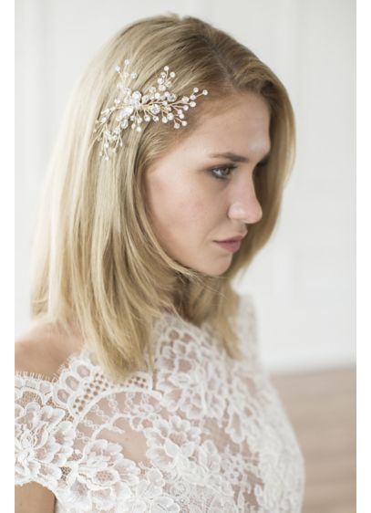 Crystal Berry Spray Hand-Wired Hair Comb - Wedding Accessories