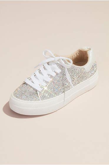 Sparkly Crystal Platform Sneakers