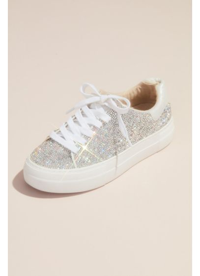 Betsey Johnson x DB Grey (Sparkly Crystal Platform Sneakers)