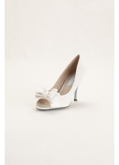 Blue By Betsey Johnson Ivory (Blue by Betsey Johnson Peep Toe Pump with Bow)