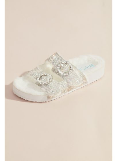 Betsey Johnson x DB White (Glitter Double Strap Sandals)