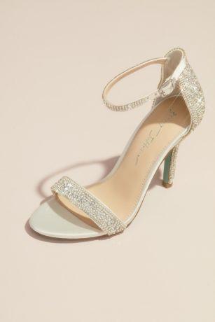 Betsey Johnson x DB Ivory Heeled Sandals (Jeweled Metallic Stiletto Sandals)
