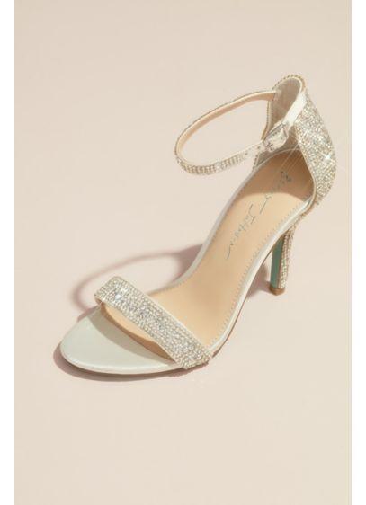 Betsey Johnson x DB Ivory (Jeweled Metallic Stiletto Sandals)