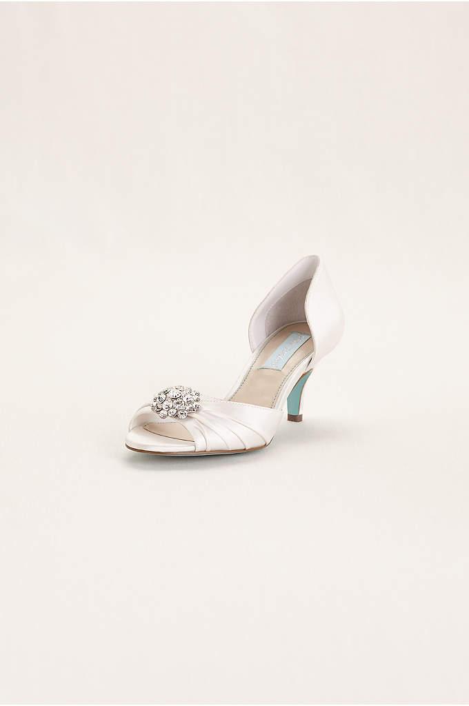 Blue by Betsey Johnson Low Heel Peep Toe Sandal