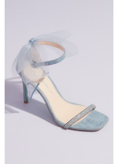 Tulle Bow High Heel Ankle Strap Sandals - Taking inspiration from high-fashion styles, this sophisticated pair