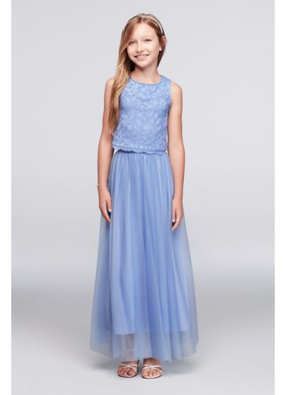 Long Blue Soft & Flowy Speechless Bridesmaid Dress