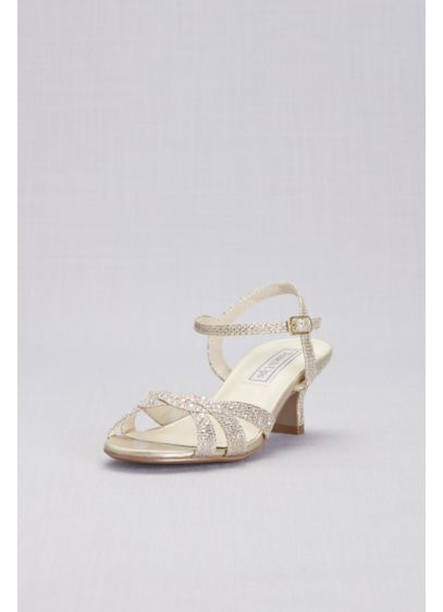 Touch Ups Grey (Girls Strappy Crystal Low-Heel Sandals)