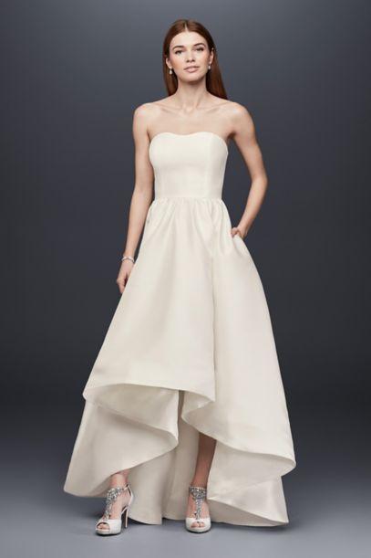 Mikado High-Low Wedding Dress