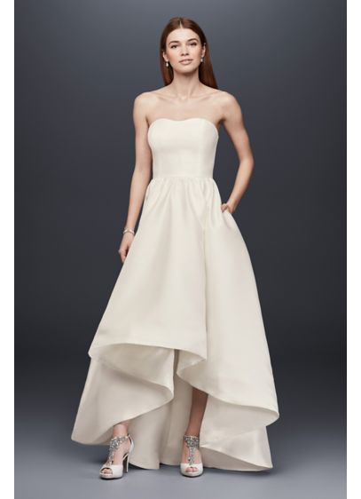 Mikado High Low Wedding Dress David S Bridal