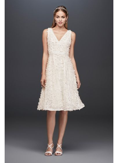 Short A-Line Casual Wedding Dress -