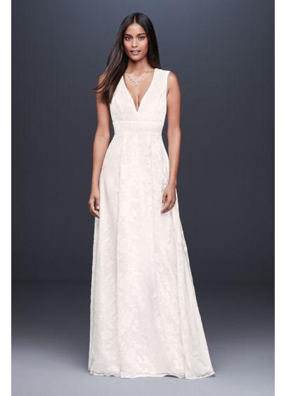 0d75e1d32cb Floral Chiffon Burnout A-Line Gown with Cutout