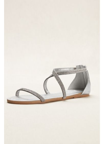 David's Bridal Grey (Crystal Crisscross Strap Sandal)