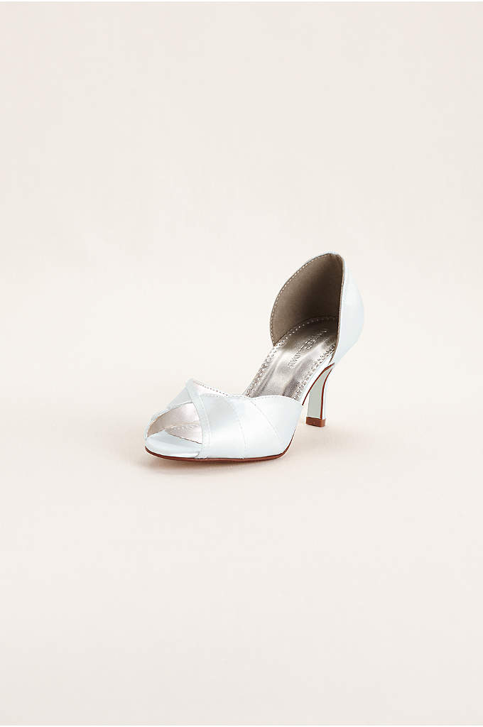 Dyeable Peep Toe Mid Heel with Scalloped Edge - Timeless and sophisticated, this scalloped edge mid heel